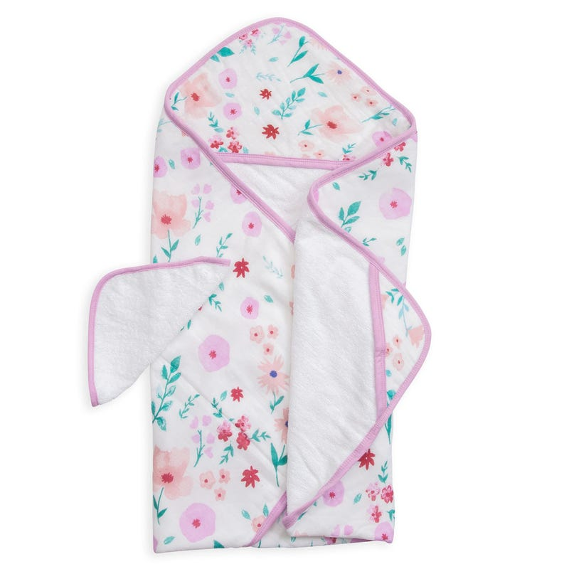 Hooded Towel and Washcloth Set - Morning Glory