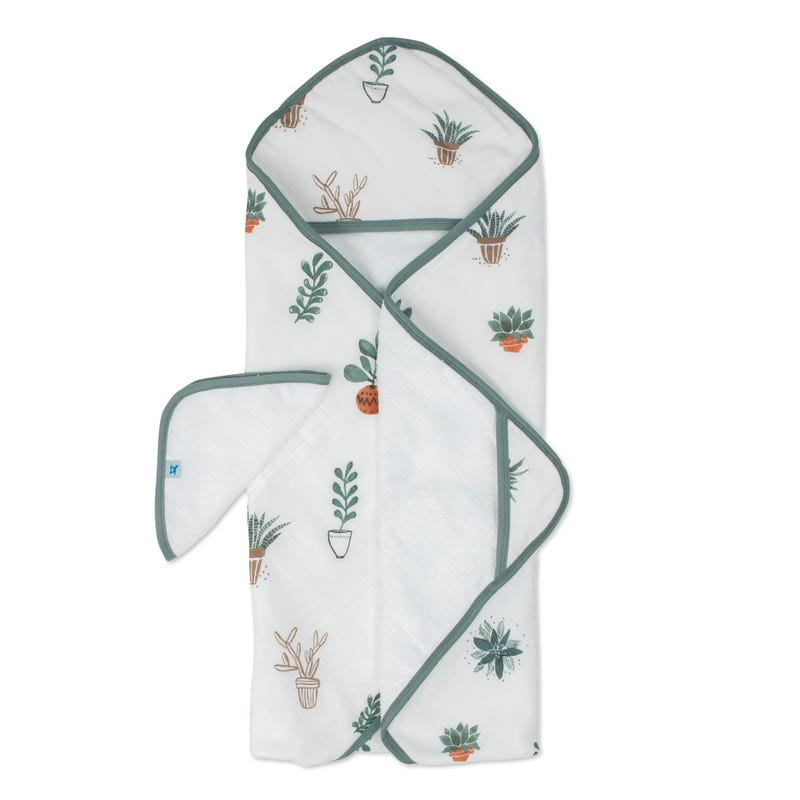 Hooded Towel and Washcloth Set - Prickle Pots