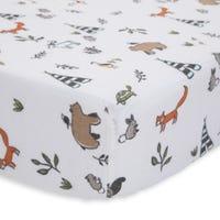 Cotton Muslin Crib Sheet - Forest Friends