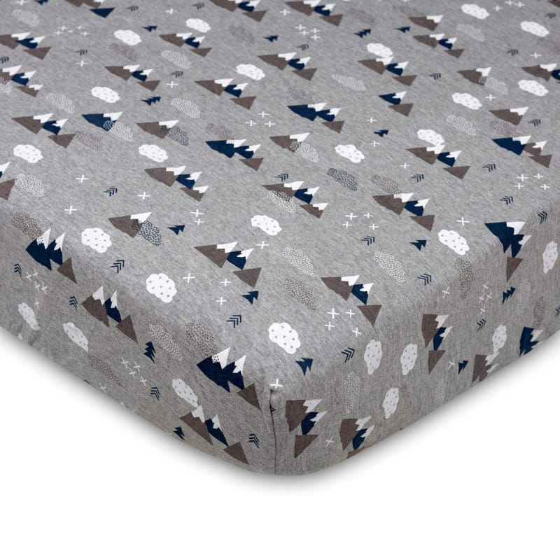 Crib Fitted Sheet - Peaks