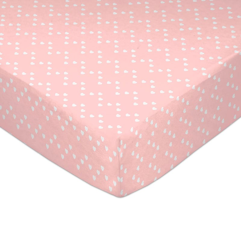 Crib Fitted Sheet - Love Pink