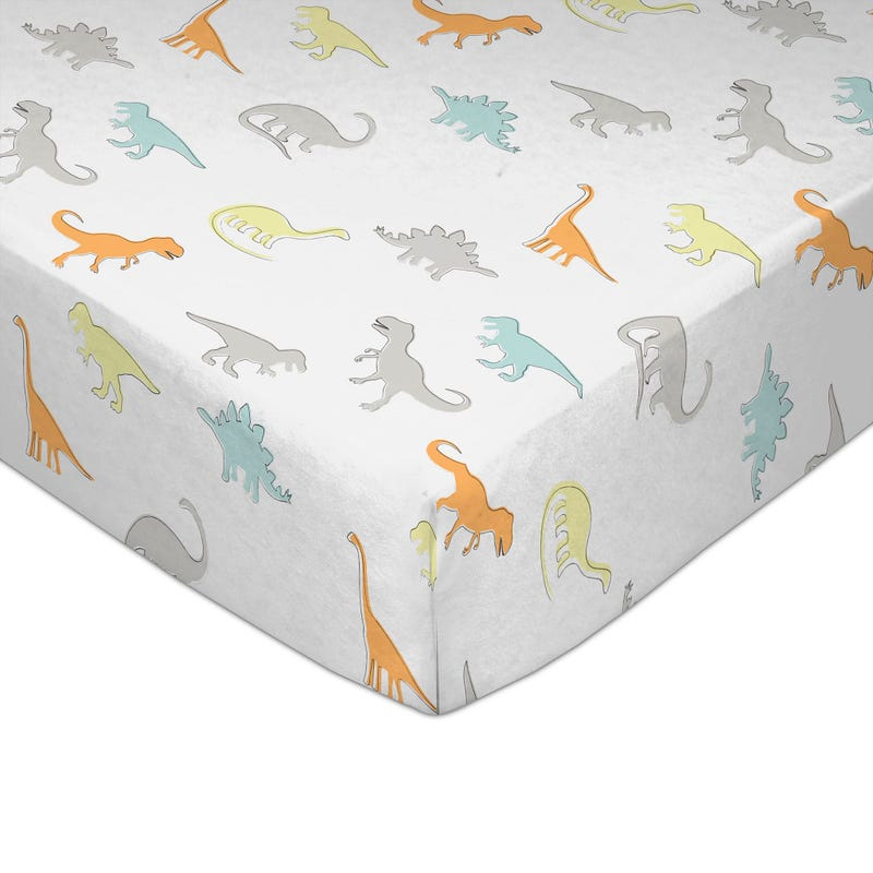 Crib Fitted Sheet - Dino Land