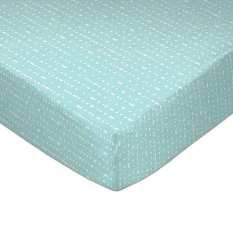 Crib Fitted Sheet - Mint Rocks