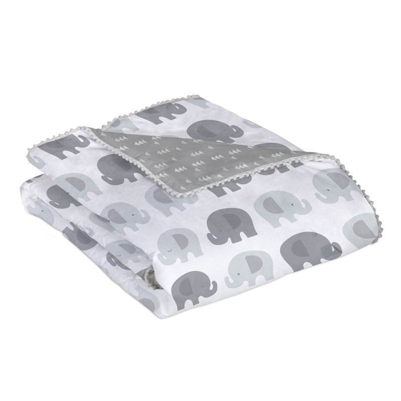 Quilted Comforter - Gray Elephant