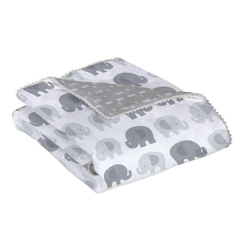 Douillette Bébé- Éléphant gris
