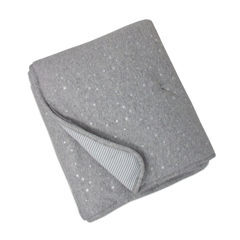 Quilted Comforter - Gray Stars