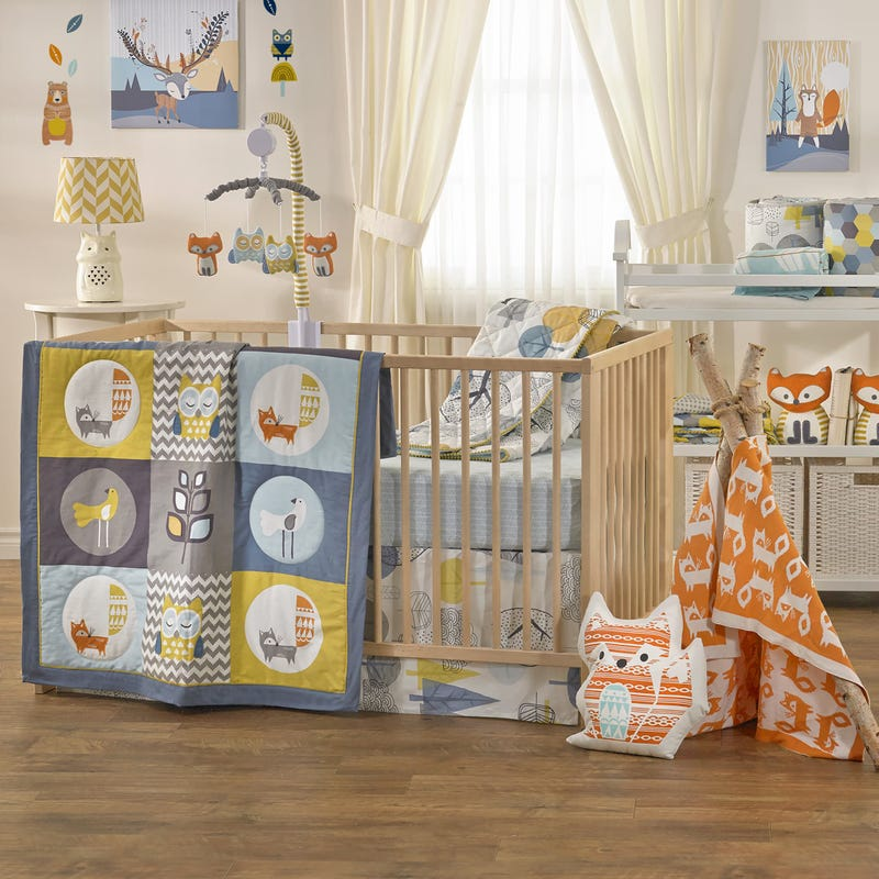 4-Piece Crib Bedding Set - Woods