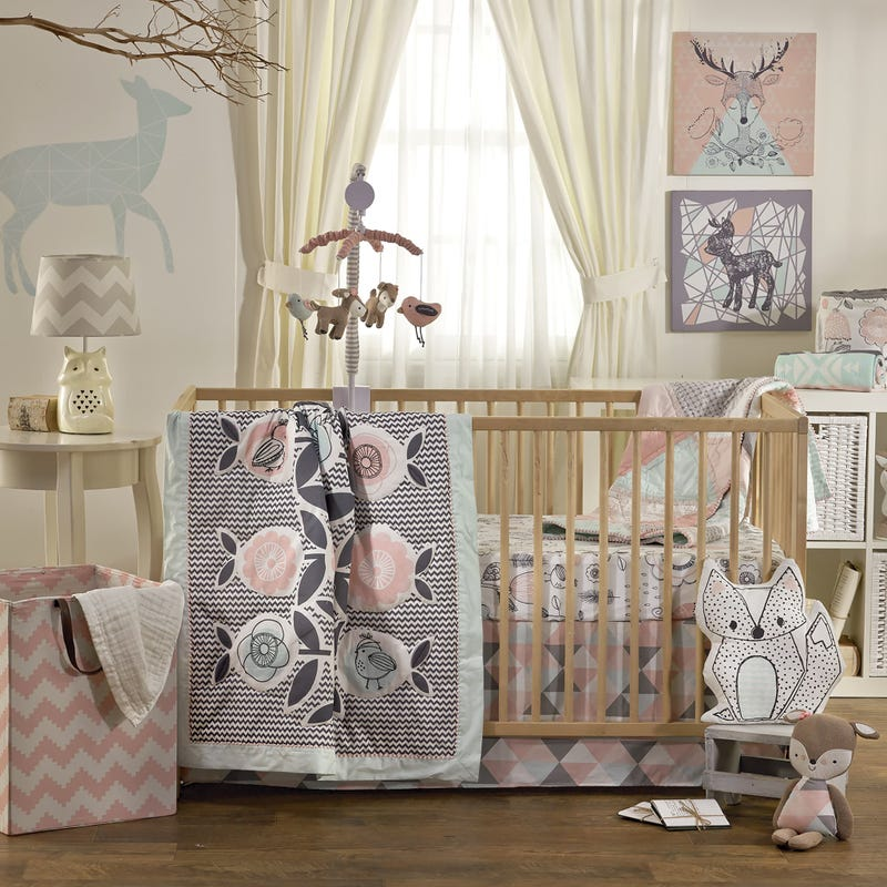 4-Piece Crib Bedding Set - Sparrow