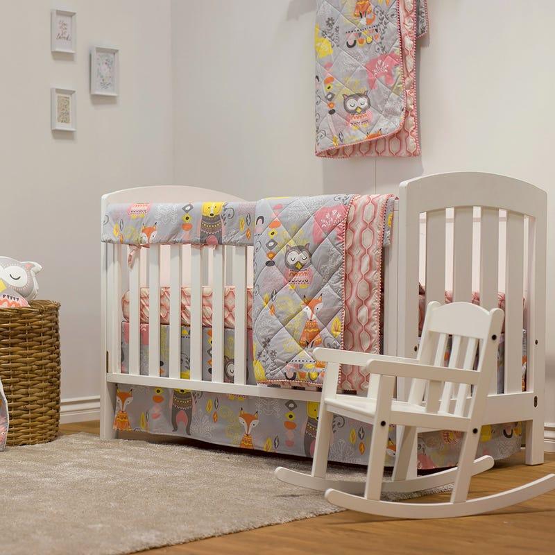 4-Piece Crib Bedding Set - Enchanted Garden