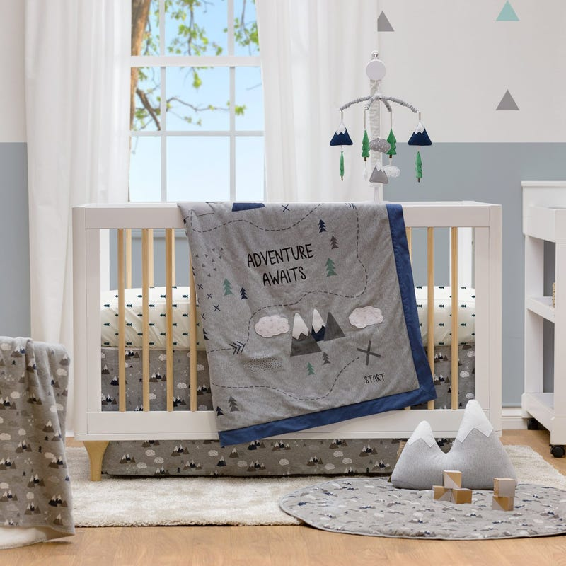 4-Piece Crib Bedding Set - Peaks