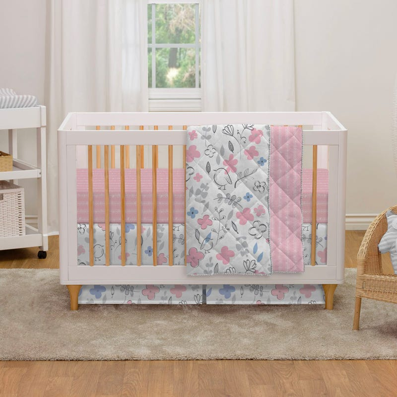 4-Piece Crib Bedding Set - Mazie