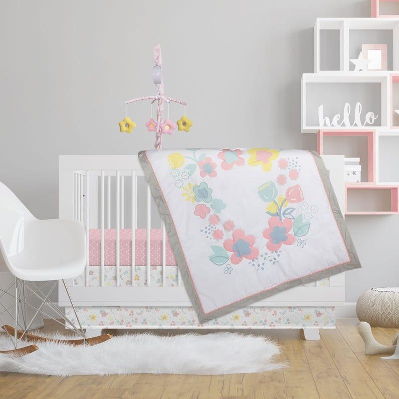 4-Piece Crib Bedding Set - Primrose
