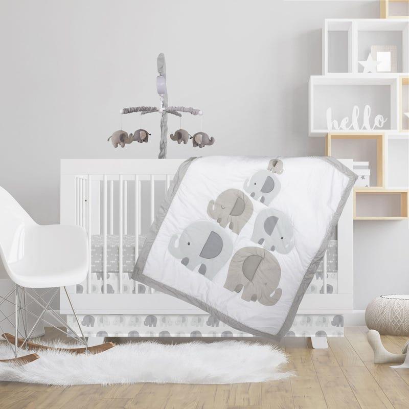 4-Piece Crib Bedding Set - Bailey