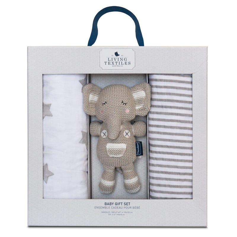 Ensemble Cadeau 2 Couvertures Éléphant