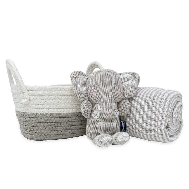 Panier Cadeau Éléphant + Couverture