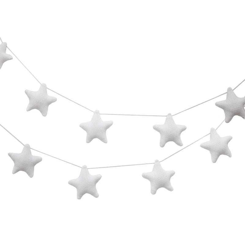 Knitted Garlands - White Stars