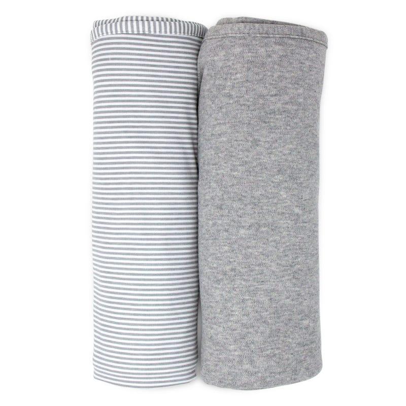 Couvertures Paquet de 2 Coton - Gris