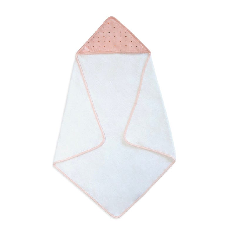 Hooded Towel - Gold Hearts