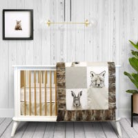 4-Piece Crib Bedding Set - Rustico