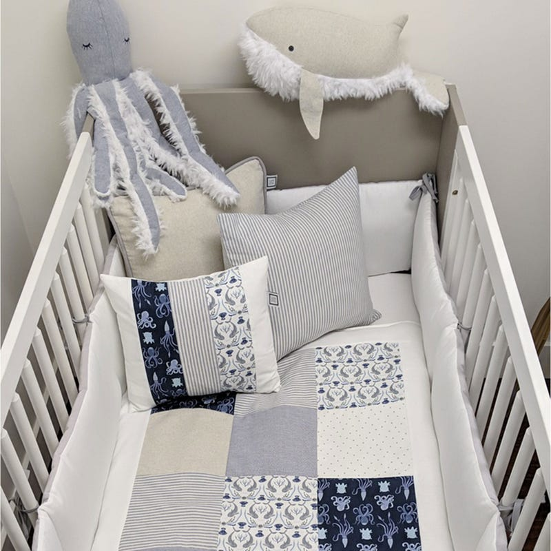 4-Piece Crib Bedding Set - Theo
