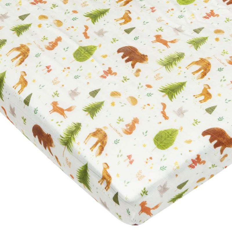 Fitted Crib Set - Forest Friends