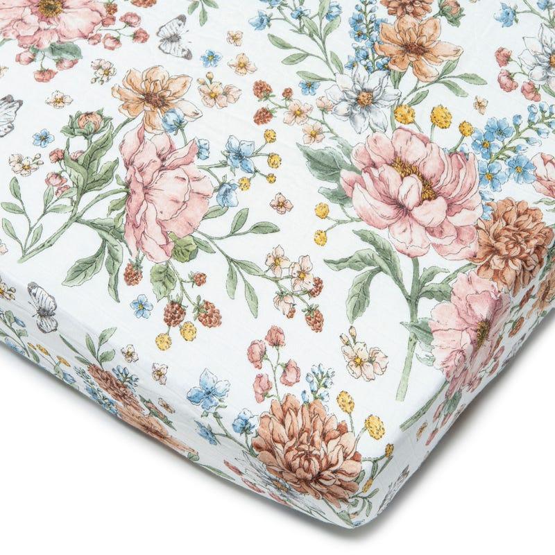 Crib Sheet - Secret Garden
