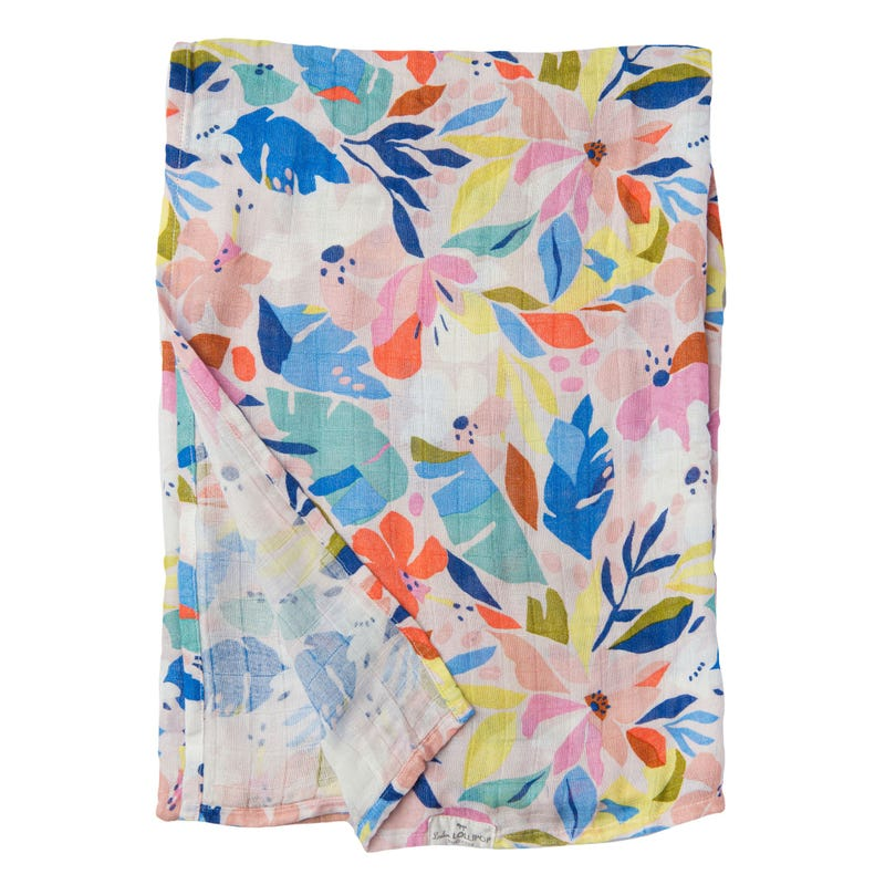 Couverture Mousseline Bambou - Hawaii