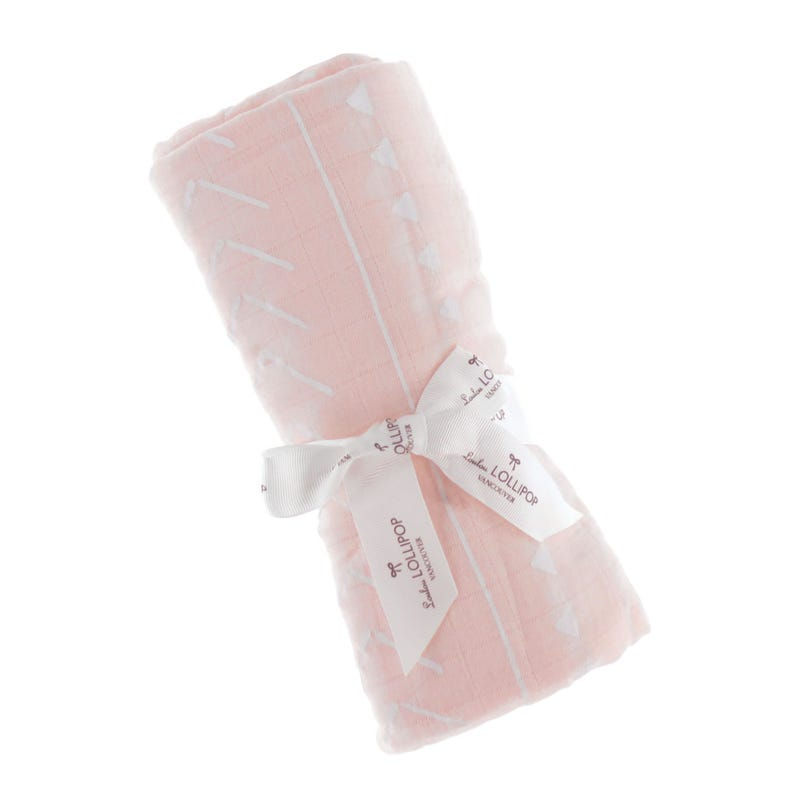 Bambou Swaddle Blanket - Pink Mudcloth