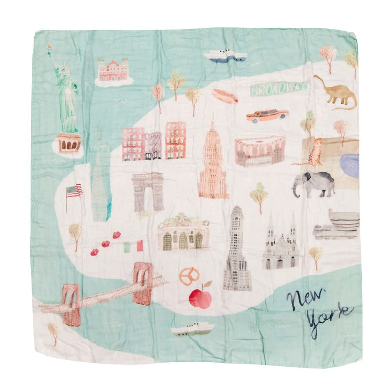 Bamboo Swaddle Blanket - New York City