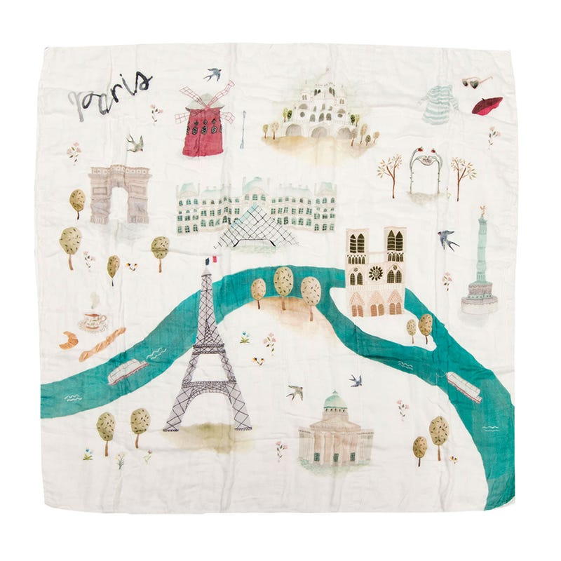 Bamboo Swaddle Blanket - Paris