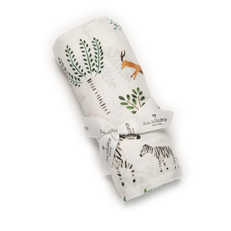 Bamboo Swaddle Blanket - Safari