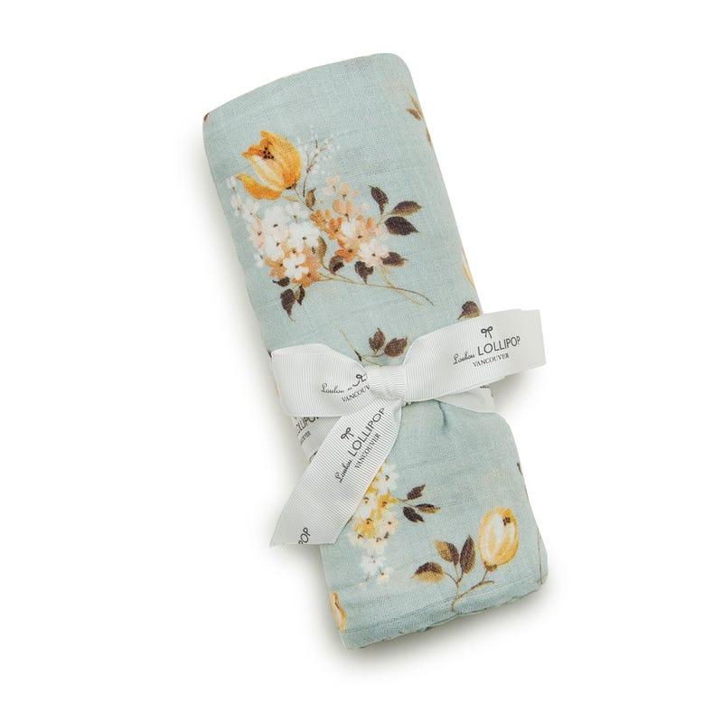 Wild Rose Bamboo Swaddle Blanket