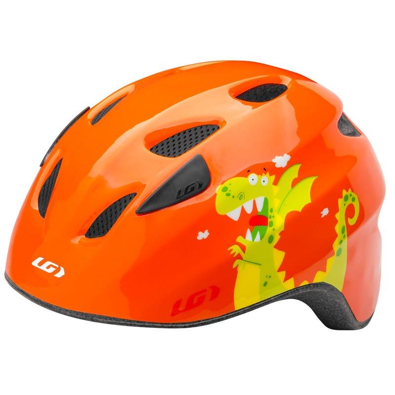 Brat Cycling Helmet - Orange Dino