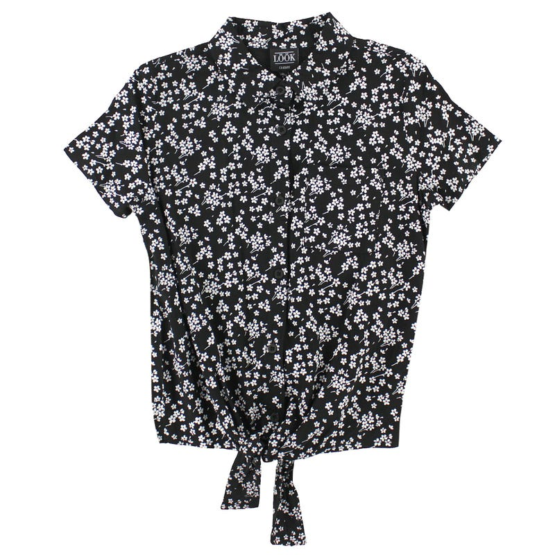 Flowers Knotted Shirt 7-14y