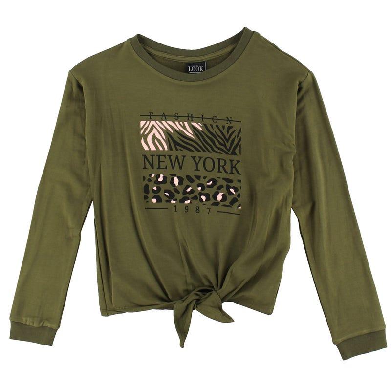 T-Shirt Manches Longues Noeud Tropique 7-14ans