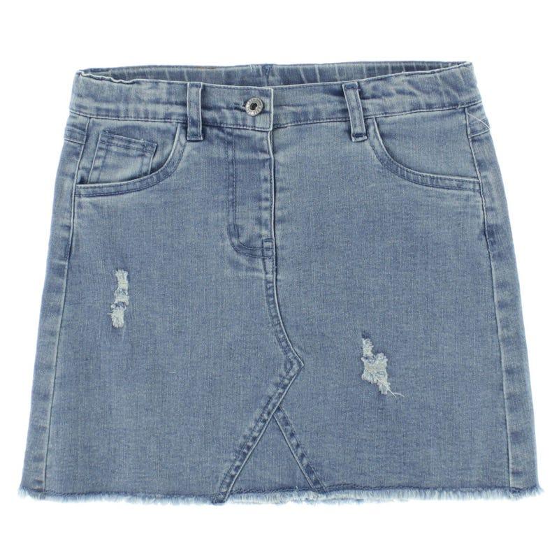 Jupe Jeans Fleurs 7-14ans
