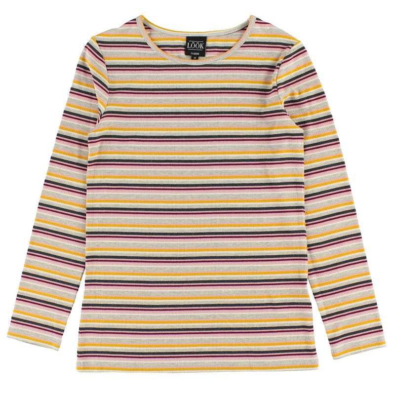 Charm Stripped Long Sleeves T-shirt