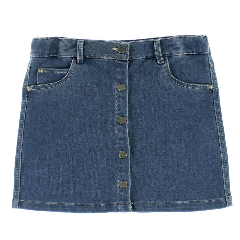 Charm Denim Button Skirt 7-14y