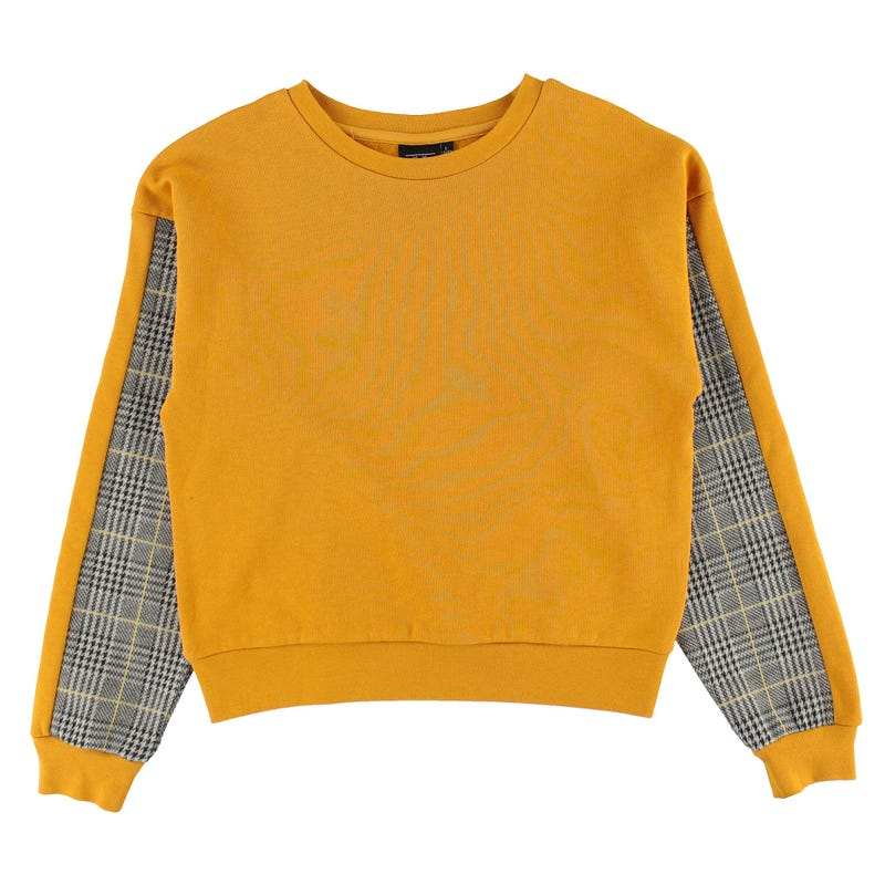 Pull Manches Carreaux Charme 7-14ans