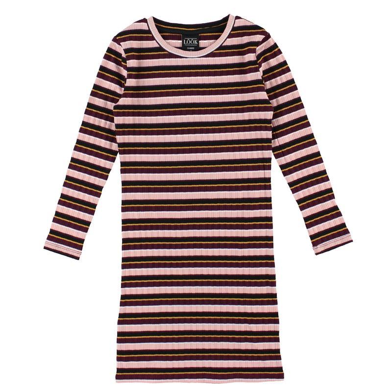 Cosy Cool Striped Dress 7-14y
