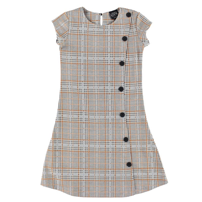 Cosy Cool PLaided Dress 7-14y