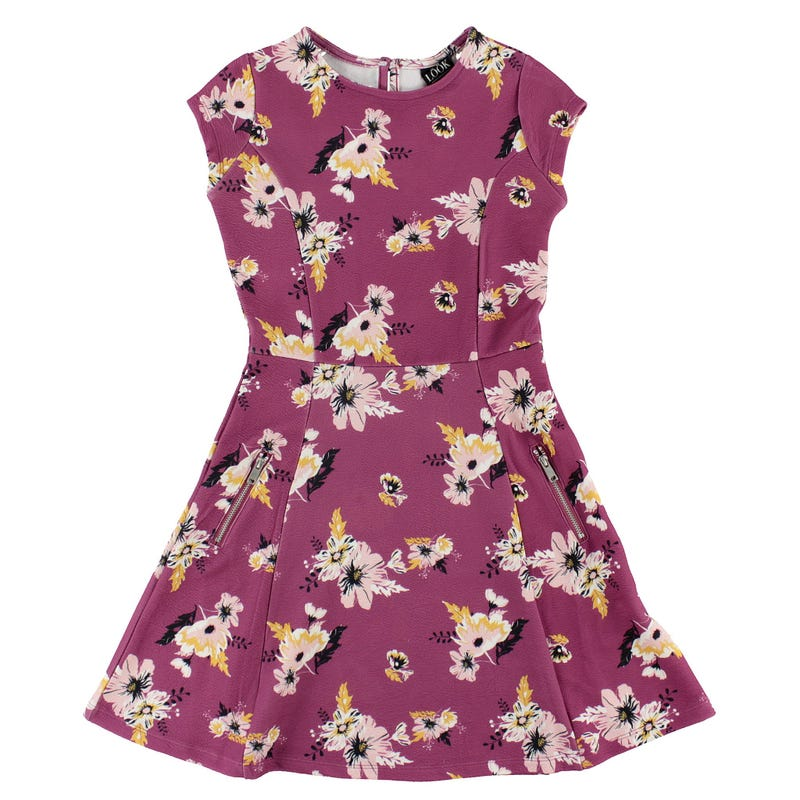Cosy Cool Flowers Dress 7-14y