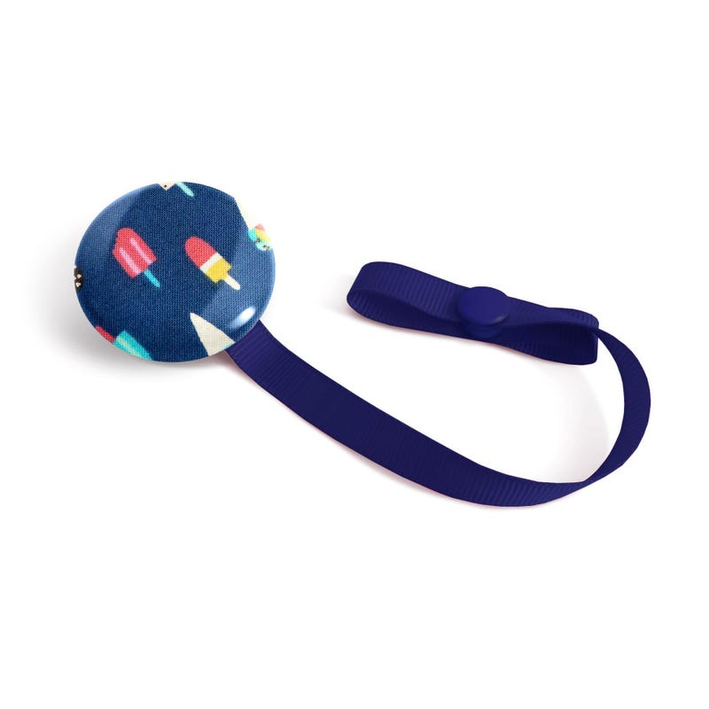 Pacifier Clip Navy Popsicle