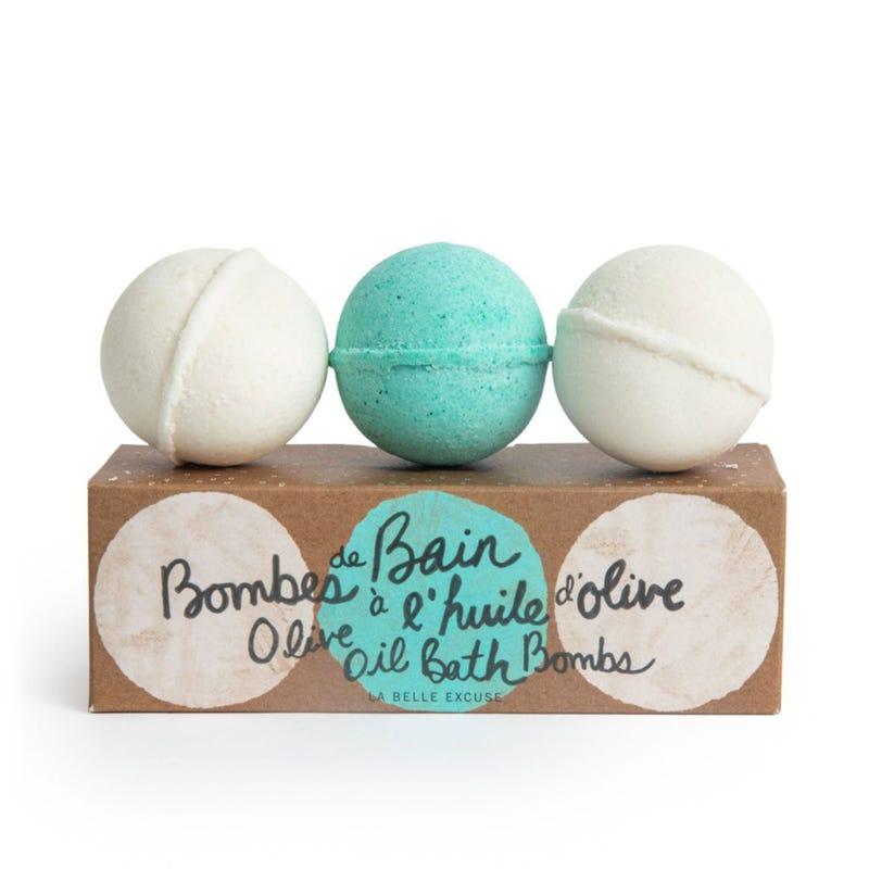 Bombes de Bain à l'Huile d'Olive Paquet de 3
