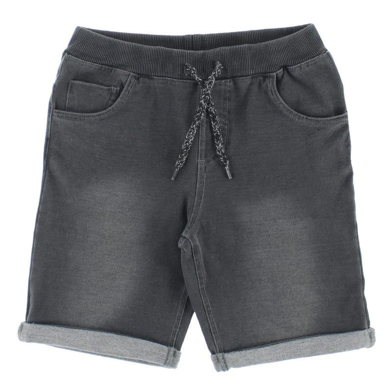 Grey Denim Shorts 8-16y