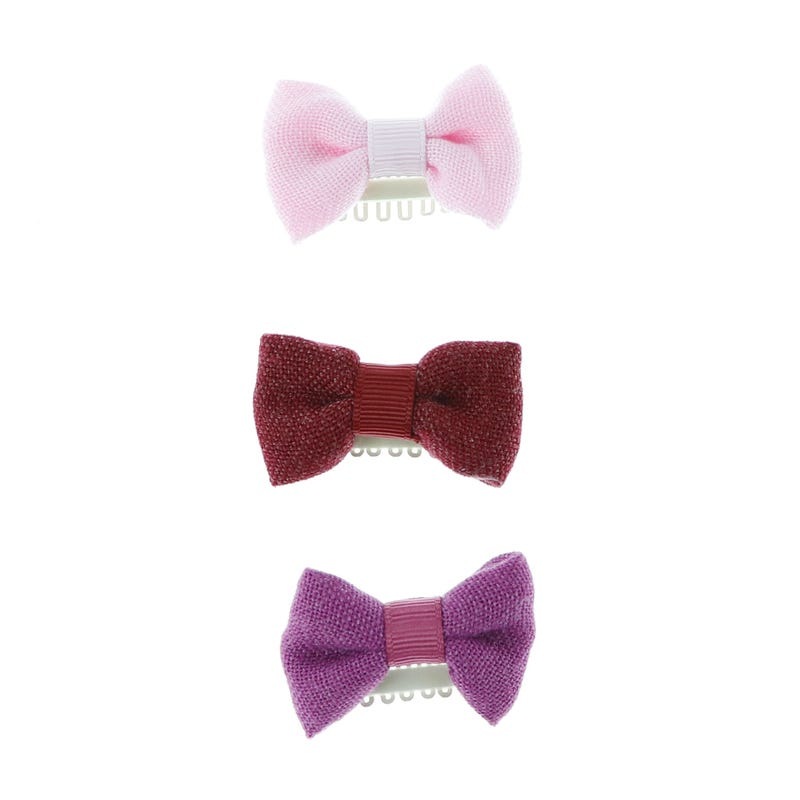 3 pack Hair Bow Clips
