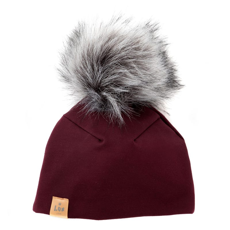 3 Seasons Hat Burgundy 0-12M
