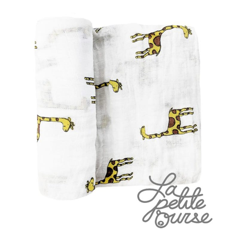 Couverture mousseline girafe