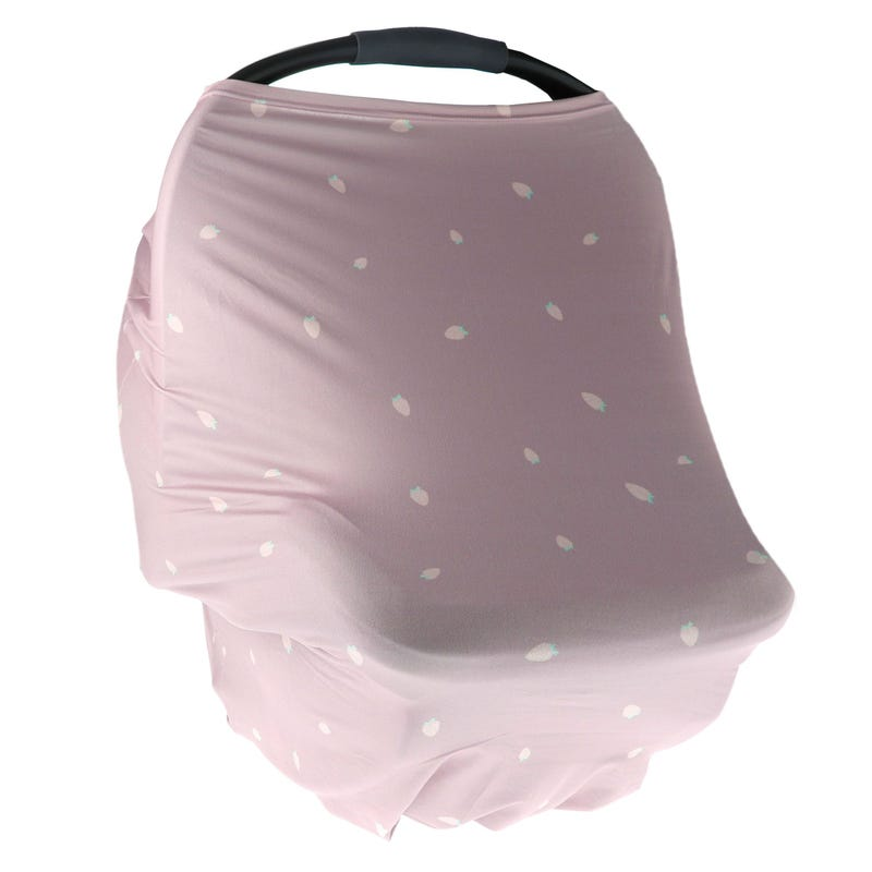 3 in 1 Car Seat Cover - Pink Strawberry