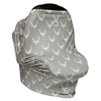 3 in 1 Car Seat Cover/Nursing Scarf - Deer Pattern